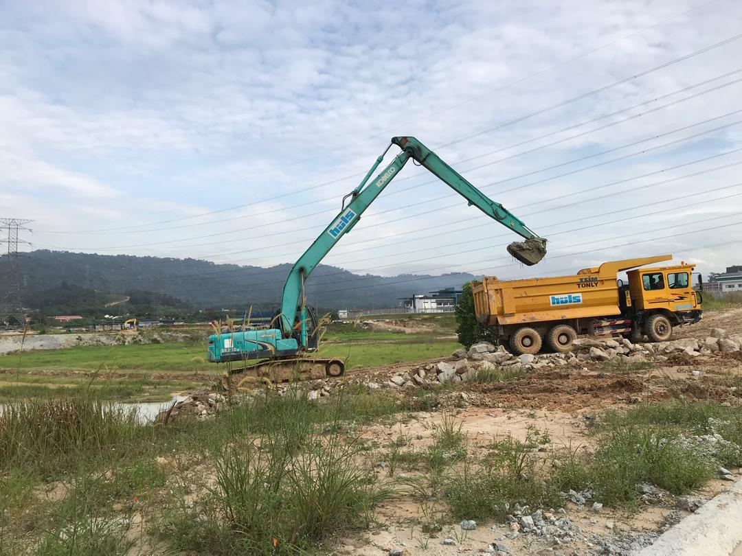 Desilting Works Sand container system Non-woven geotextile Erosion control mat