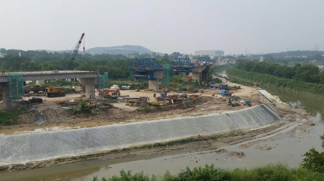 River improvement works Concrete Infill Mattress Incomat